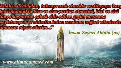 Photo of İmam Zeynel Abidin (as)'dan Öğütler…